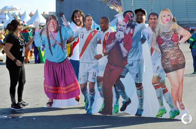 Болельщики перед матчем открытия ЧМ-2014