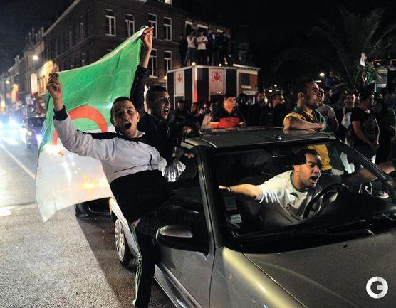 Как алжирцы отмечали выход в плей-офф ЧМ