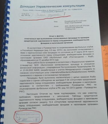 "Документы РФС по делу ""Ростова"" и Радича"