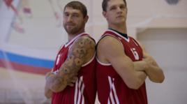 На тренировке сборной по баскетболу