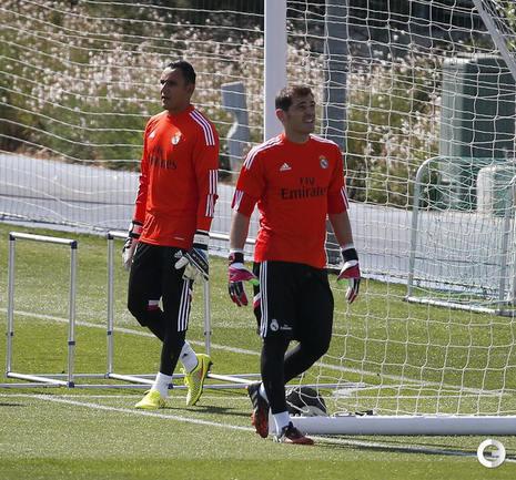 """Роналду, Навас и Касильяс на тренировке """"Реала"""""""
