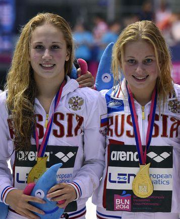 Петухова и Тимошинина - чемпионки Европы в синхронных прыжках с вышки