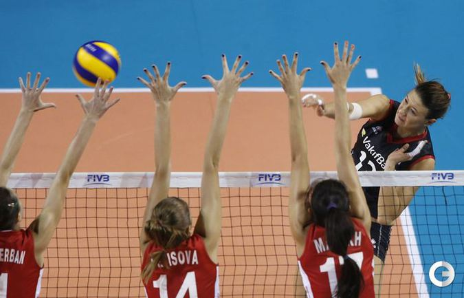 """Российские волейболистки одержали вторую победу в """"Финале шести"""" Фото AFP"""
