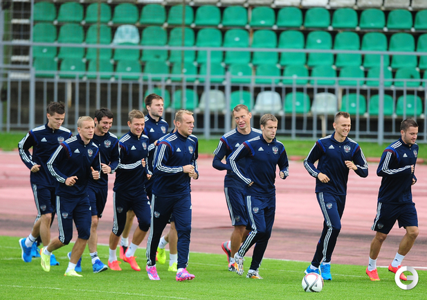 Сборная России готовится к матчу с Лихтенштейном