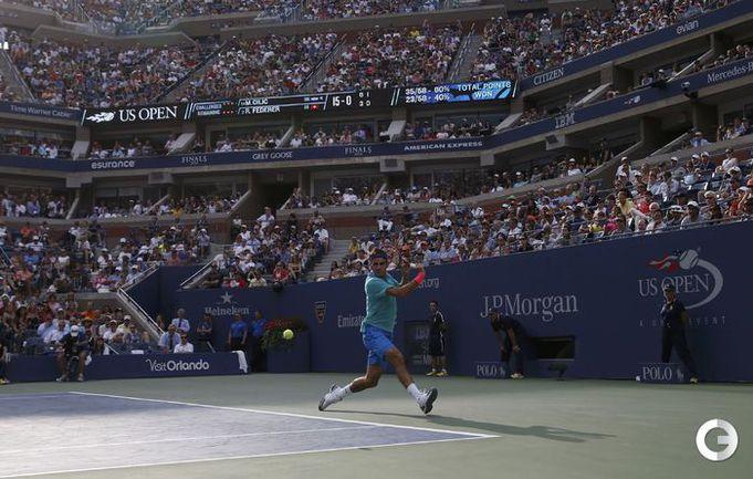Чилич выбил Федерера в трех сетах в полуфинале US Open
