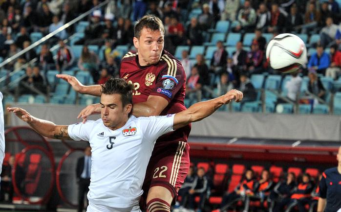 Артем Дзюба забил первый гол за сборную России