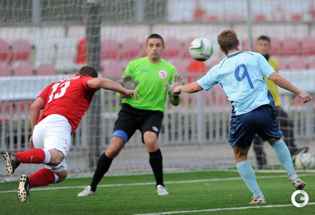 Дмитрий Кудряшов в конце матча едва не принес волевую  победу красно-белым.