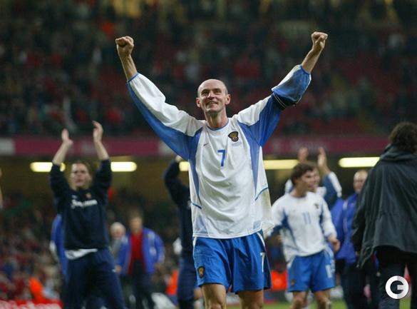 19 ноября 2003. Кардифф. Стыковой матч ЧЕ-2004. Уэльс - Россия - 0:1.