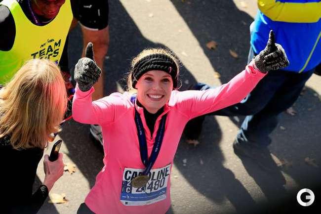 Возняцки пробежала Нью-Йоркский марафон