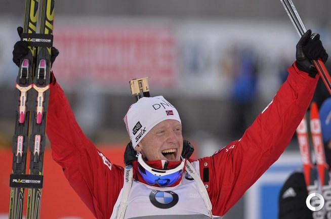 Йоханнесс Бе выиграл спринт в Хохфильцене
