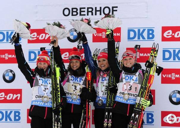 Чехия выиграла эстафету в Оберхофе, россиянки - седьмые