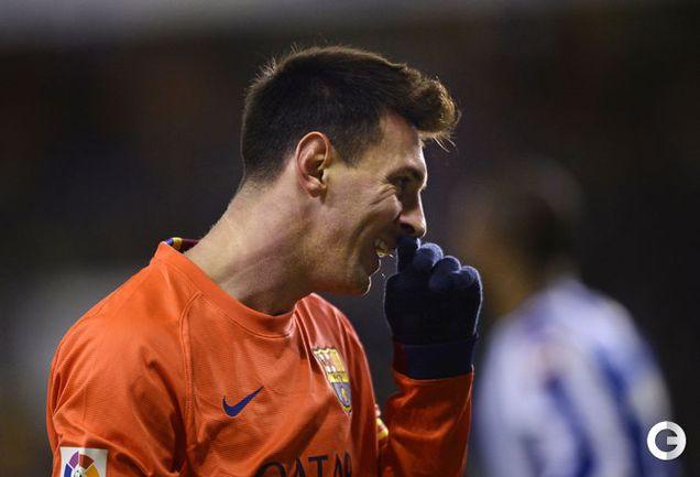 """Барселона"" разгромила ""Депортиво"", Месси сделал хет-трик"