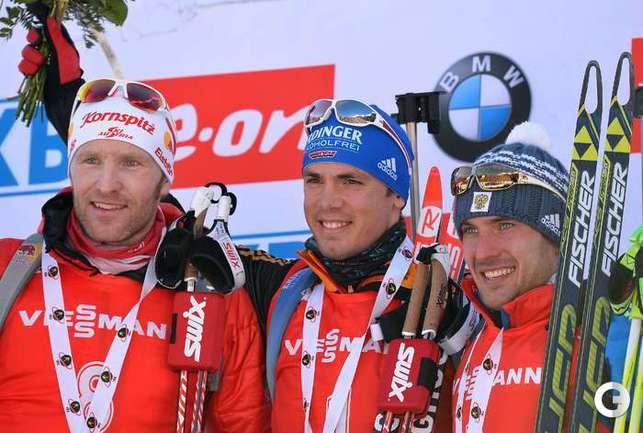 Гараничев - третий в гонке преследования в Антерсельве