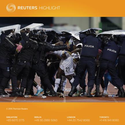 Матч Кубка Африки прерван из-за беспорядков на стадионе