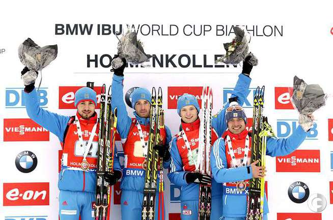 Мужская сборная России выиграла эстафету в Норвегии