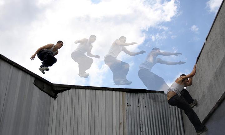 C этой фотосессией команда Tracers участвовала в конкурсе экстремального фото и видео VivaxSport Moscow City Battle.