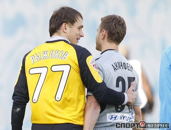 """Игорь Акинфеев (№1) и Сергей Рыжиков (№2). Фото - Алексей ИВАНОВ, """"СЭ""""."""