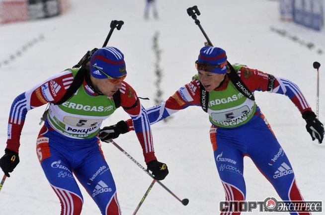 Антон Шипулин и Ольга Зайцева.
