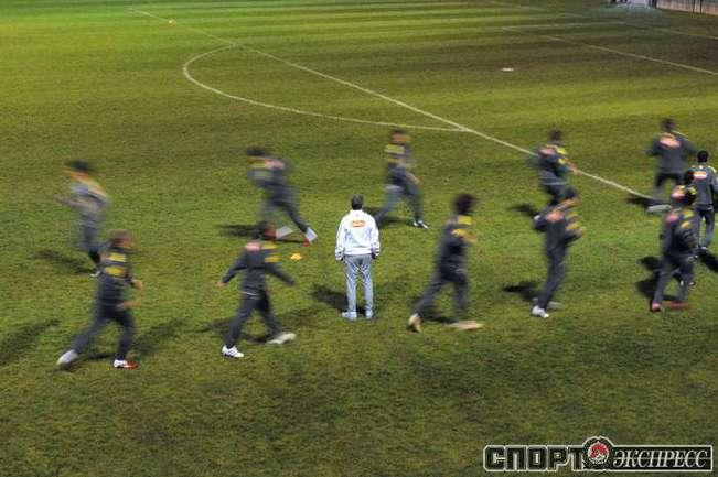 Тренировка сборной Бразилии.