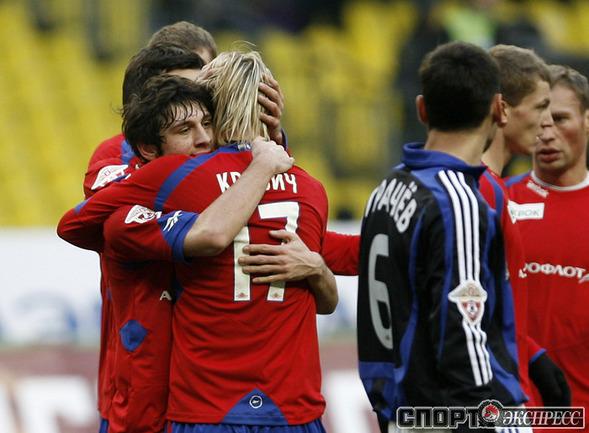 Радость Алана Дзагоева после гола.