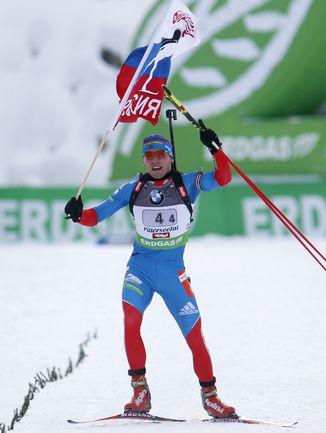 Антон Шипулин на финише. Фото REUTERS.