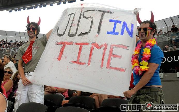Австралийские болельщики тепло приняли Жюстин Энен.