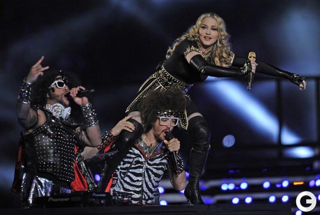 Выступление Мадонны.