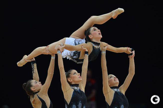 """Золотая команда """"художниц"""" России. Фото AFP"""