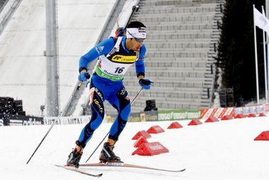 Сегодня. Холменколлен. На трассе - победитель спринта Мартен ФУРКАД. Фото AFP Фото «СЭ»