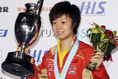 Чемпионка мира в одиночном разряде ЧЖАН ИНИН. Фото AFP