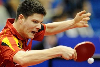 Восходящая звезда европейского настольного тенниса - представляющий Германию Дмитрий ОВЧАРОВ. Фото AFP