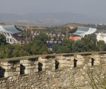 "Вчера. Скопье. Стадион ""Филипп II"". Фото Александра ФЕДОРОВА, ""СЭ"" Фото «СЭ»"