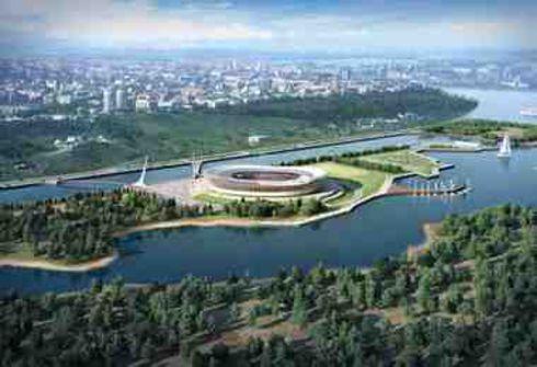 """Стадион в Нижнем Новгороде расположится на песчаном острове. Фото """"СЭ"""""""