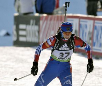 В индивидуальной гонке на этапе Кубка мира в Словении лучшей из россиянок была Ольга ЗАЙЦЕВА (5-е место). Фото Reuters