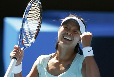 Четверг. Мельбурн. ЛИ НА празднует выход в финал Australian Open. Фото AFP