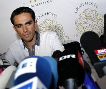 Лучший велогонщик мира Альберто КОНТАДОР. Фото AFP