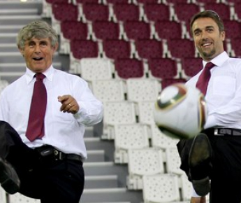 Две звезды: Бора МИЛУТИНОВИЧ (слева) и Габриэль БАТИСТУТА. Фото AFP