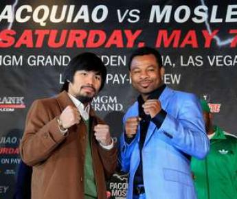 7 мая Мэнни ПАКИАО предстоит встретится на ринге с Шейном МОСЛИ, однако любители бокса ждут другого боя с участием легендарного филиппинца Фото AFP