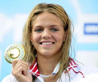 11 августа 2010 года. Будапешт. Чемпионка Европы Юлия ЕФИМОВА. Фото AFP