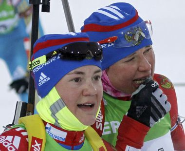 Екатерина ЮРЛОВА (слева) и Анна БОГАЛИЙ-ТИТОВЕЦ. Фото REUTERS