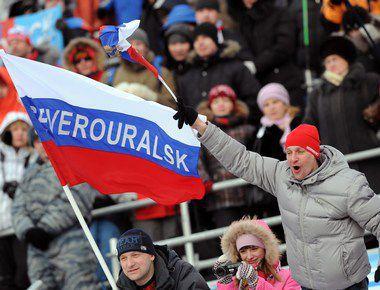 Российские болельщики так и не дождались от сборной страны золотых медалей на домашнем чемпионате мира. Фото AFP