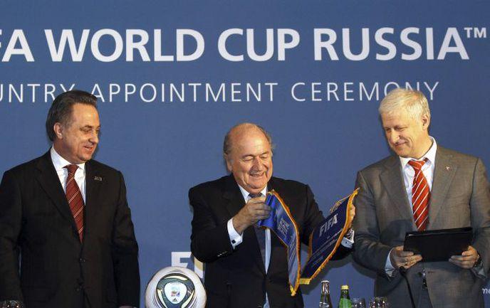 В январе Россия добилась права проведения чемпионата мира по футболу. Фото REUTERS