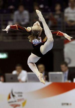 Вчера. Берлин. Двукратная чемпионка Европы Анна ДЕМЕНТЬЕВА. Фото REUTERS