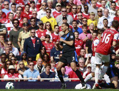 """Воскресенье. Лондон. """"Арсенал"""" - """"Манчестер Юнайтед"""" - 1:0. Арон РЭМСИ (№16) забивает победный гол. Фото AFP"""