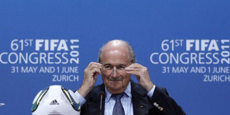 Йозеф БЛАТТЕР переизбран на пост президента ФИФА. Фото REUTERS
