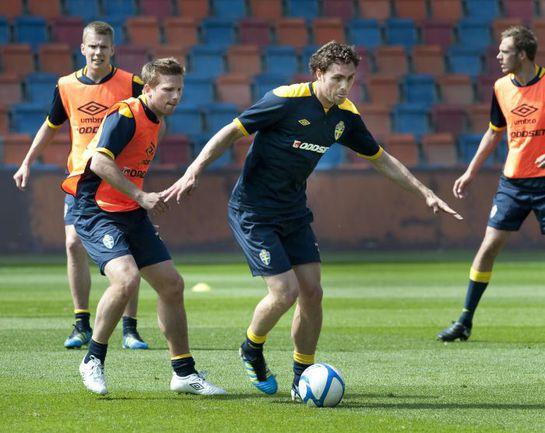 Сборная Швеции готовится к матчу в Молдавии. Фото AFP