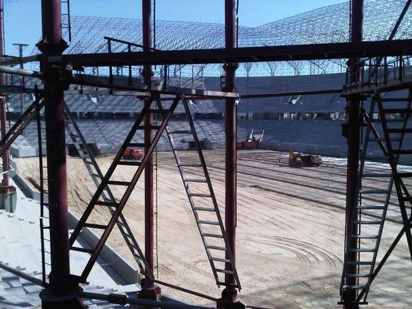 """Львов. Строительство стадиона к Euro-2012 идет ускоренными темпами. Фото Дмитрия ЗЕЛЕНОВА, """"СЭ"""" Фото """"СЭ"""""""
