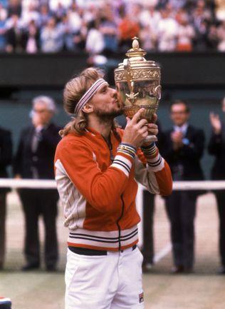 Три победных дубля, сделанных с 1978 по 1980 год Бьорном БОРГОМ на Roland Garros и Уимблдоне, - выдающееся достижение. Фото AFP