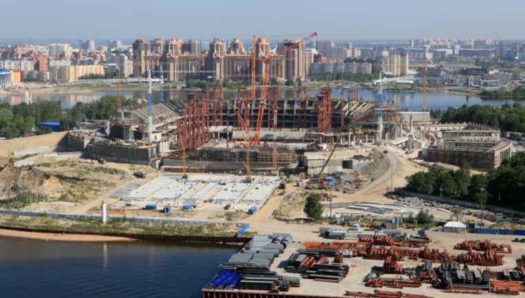 """Строительство стадиона в Санкт-Петербурге. Фото Виктора КОЛЕГОВА Фото """"СЭ"""""""