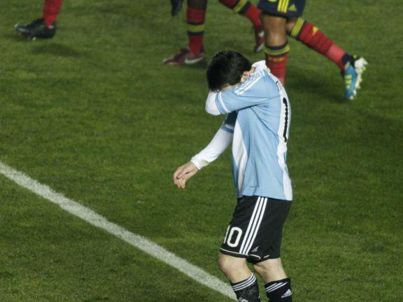 Среда. Санта-Фе. Аргентина - Колумбия - 0:0. Лионель МЕССИ после финального свистка. Фото REUTERS